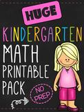 Kindergarten Math Printable Worksheet Pack - NO PREP
