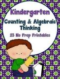 Kindergarten Math - Counting and Algebraic Thinking
