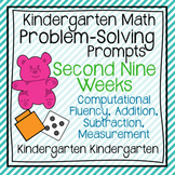 Kindergarten Math Problem Solving Prompts 2nd Nine Weeks