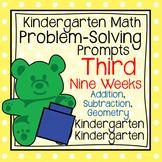 Kindergarten Math Problem Solving Prompts 3rd Nine Weeks