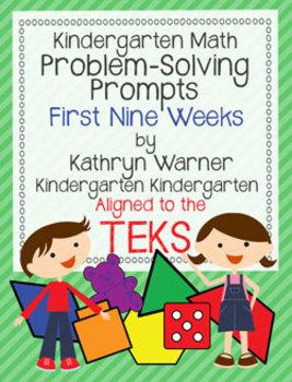 Kindergarten Math Problem Solving Prompts First Nine Weeks TEXAS Version