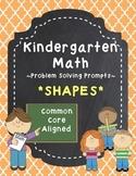 Kindergarten Math Problem Solving Prompts - Part 1/4 - Shapes