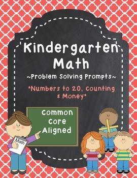 Kindergarten Math Problem Solving Prompts - Part 2/4 - Counting & Money