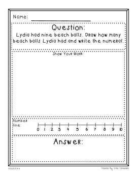 Kindergarten Math Problem Solving Prompts - Part 3/4 - Building Numbers