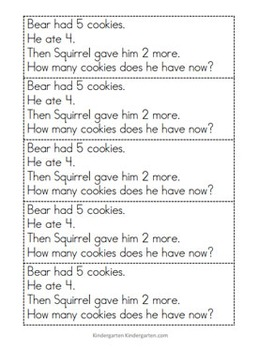 Kindergarten Math Problem Solving Prompts for the Entire Year