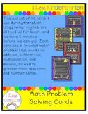 Kindergarten Math Problem Solving Transition Cards