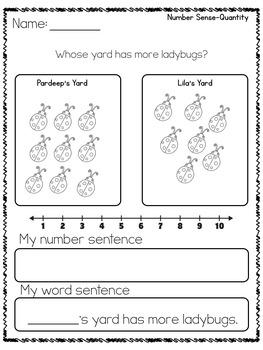 Kindergarten Math Problems