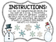 Kindergarten Math Puzzle Pieces Numbers 1-20 - Winter Themed