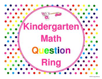 Kindergarten Math Question Ring