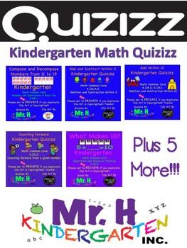 Kindergarten Math Kahoots/Quizizz Bundle (Common Core Aligned!)
