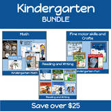 Kindergarten Math, Reading, Writing, and Craft BUNDLE