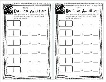 Kindergarten Math Recording Sheets