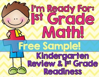 Kindergarten Math Review First Grade Back To School Free Sample