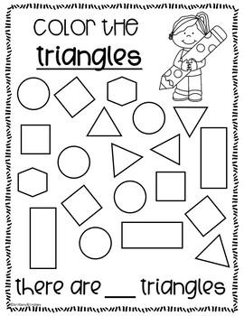 Kindergarten Math Review {NO PREP!} Packet