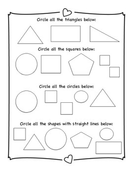 Kindergarten Math Review Packet