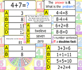 Kindergarten Math Review Quiz-E  End of the year quiz
