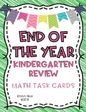End of the Year Kindergarten Math Review Task Cards {Common Core Aligned}