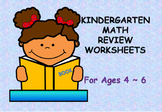 Kindergarten Math Review Worksheets