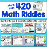 Kindergarten Math Riddle Bundle   Addition Subtraction Num