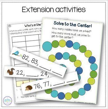 Kindergarten Number Sense Riddles BUNDLE