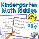 Kindergarten Number Sense Math Riddles Bundle