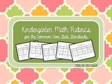 Kindergarten Math Rubrics for the Common Core State Standards