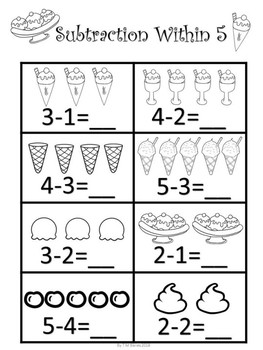 Kindergarten Math Sample Freebie