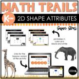 Kindergarten Math Scavenger Hunt   2D Shape Attributes See