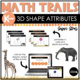 Kindergarten Math Scavenger Hunt   3D Shape Attributes See
