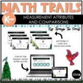 Kindergarten Math Scavenger Hunt   Attributes and Comparis