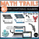 Kindergarten Math Scavenger Hunt   Decomposing Numbers See