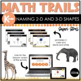 Kindergarten Math Scavenger Hunt   Naming 2-D & 3-D Shapes