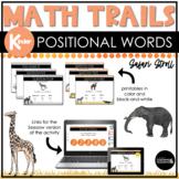 Kindergarten Math Scavenger Hunt   Positional Words Seesaw