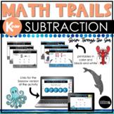 Kindergarten Math Scavenger Hunt   Subtraction Seesaw and