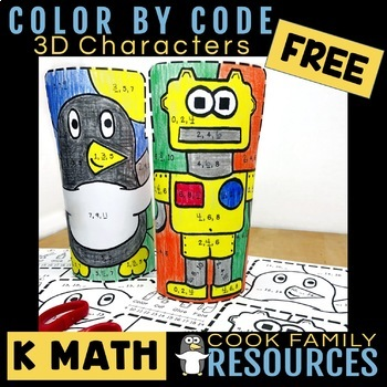 Kindergarten Math Sequence Color by Code | FREE