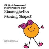 Kindergarten Math Naming Shapes Assessment & IEP Goal Tracker