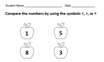Kindergarten Math Sheets (10 Total 8X11) (The thumbnails are snips)