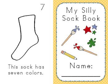 Kindergarten Math Silly Sock Book