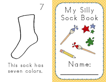 Kindergarten Math Silly Sock Book