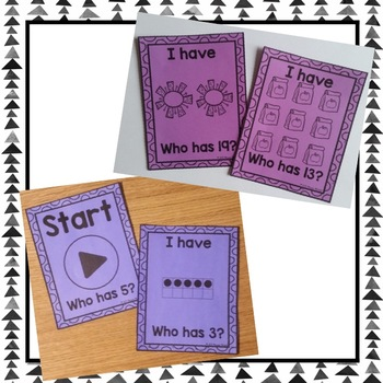Kindergarten Math Skills-I Have, Who Has Bundle