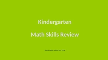 Kindergarten Math Skills Review PowerPoint