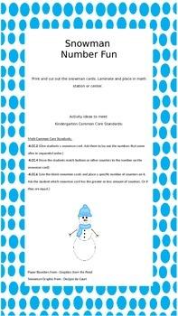 Kindergarten Math: Snowman Numbers