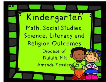 Kindergarten Math, Social Studies, Science, Literacy and Religion Objectives