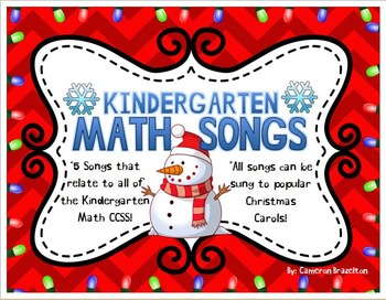Kindergarten Math Song Lyrics Sung to Christmas Carols (Co