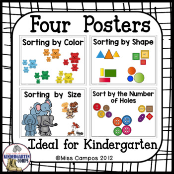 kindergarten math sorting by color by size by shape button sorting. Black Bedroom Furniture Sets. Home Design Ideas