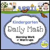 Kindergarten Math Spiral Review APRIL Morning Work or Warm ups