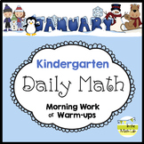 Kindergarten Math Spiral Review JANUARY Morning Work or Warm ups