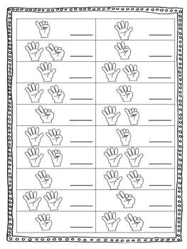 Kindergarten Math Sprint Bundle