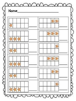 Kindergarten Math Sprints for Numbers 1-3
