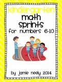 Kindergarten Math Sprints for the Numbers 6-10